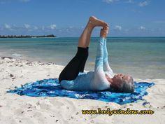 The Raised Feet Pose is a wonderfully simple inversion, which will decompress and release your lower back and keep you young! Yin Yoga Poses, Peace Fingers, Big Toe, Mexico, Ankle, Simple, Beach, Playa Del Carmen, Wall Plug