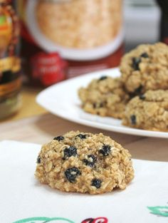 Blueberry Oatmeal Breakfast Cookies