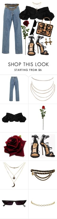 """""""Untitled #584"""" by youraveragestyle ❤ liked on Polyvore featuring Emilia Wickstead, Humble Chic, Johanna Ortiz, Laura Cole, Dsquared2, Charlotte Russe, Chanel and Dolce&Gabbana"""