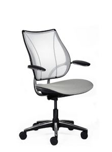 Liberty Task Chair - probably the best office chair I have ever sat in.  Too bad I don't have thousands of dollars to spend.