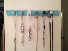 Homemade jewelry hanger!