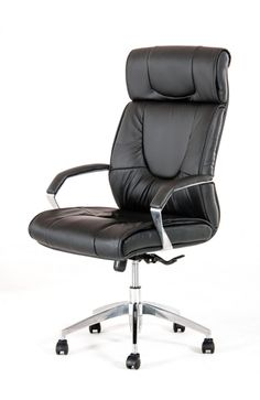 Modrest Victory Modern Black Office Chair VGFCFS-8058Product:16718Features :Black LeatheretteHigh BackChrome Padded ArmrestGas-lift Adjustable HeightSwivel Metal Base5 Black CastorsSome Assembly RequiredDimensions:Chair : W25