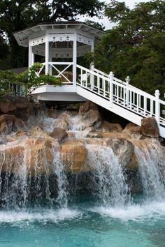 Waterfall Gazebo, Saint Lucia, The  Caribbean; photo via deificiation