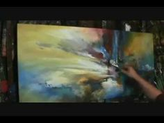 """Abstract Art painting """"The Edge"""" Demo. by MIX Lang"""