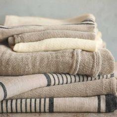 Pure Linen Towel Collection in Ivory, Flax & Black Textiles, Linen Bedding, Linen Fabric, Linen Towels, Bath Towels, Grain Sack, Linens And Lace, Bath Linens, Bath Accessories