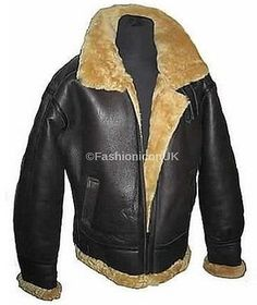 Men's b3 shearling raf marino sheepskin ww2 #bomber #leather #flying aviator jack,  View more on the LINK: http://www.zeppy.io/product/gb/2/141774105296/