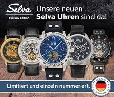 Modern, optisch raffiniert und technisch hochwertig! Mit der vielfältigen Herren-Armbanduhr-Edition von SELVA finden modisch gekleidete Herren die genau passenden Ergänzungen für ein ausgewähltes Outfit.   Für alle, die es noch nicht mitbekommen haben: Die Uhren sind erhältlich zum exklusiven Einführungspreis (gilt noch bis Ende Februar nächsten Jahres)! Outfit, Modern, Accessories, Fashion, February, Bracelet Watch, Outfits, Moda, Trendy Tree