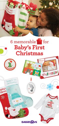 Call them keepsakes, mementos or just fun gifts to help celebrate and cherish Baby's First Christmas. We've culled some of our favorites...holiday stockings fit for stuffing, an oh-so-sweet ornament, a pic-perfect frame and a memory book to record every precious moment.