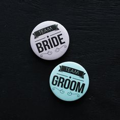 Team Bride and Team Groom pin button badges - wedding party - bachelor party - wedding favors - wedding gift on Etsy, $10.00