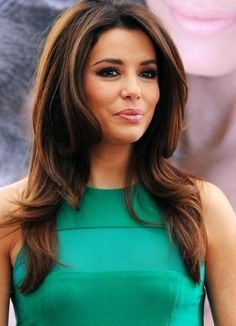 Eva Longoria - dark brown with lightened ends