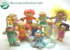 Cabbage Patch Kids Figures 1980s. Girls play with them @ mom & dads!