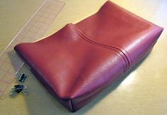 How to sew a Leather bag - detailed instructions