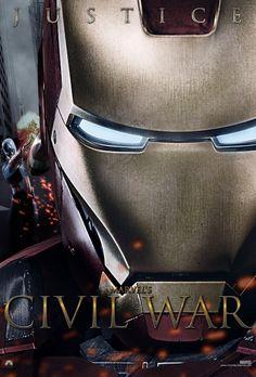 Marvels Civil War Iron Man Justice Poster by on deviantART Marvel Fan, Marvel Dc Comics, Dc Heroes, Comic Book Heroes, Johnlock, Destiel, Iron Man Tony Stark, Captain America Civil War, Avengers Age