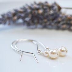 Pearl stack earrings