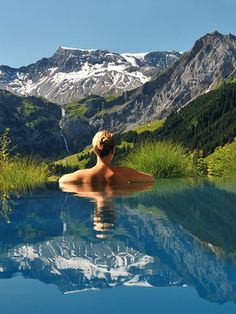 The Cambrian Hotel in the Swiss Alps is situated in the heart of Adelboden, a beautiful village boasting front row views of the surrounding snowcapped mountains. #travel #honeymoon