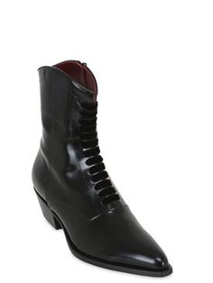 philosophy di lorenzo serafini - women - boots - 35mm buffed smooth leather ankle boots