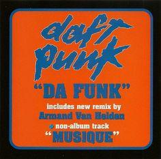 """DAFT PUNK '96 """"Da Funk"""" USA 3trk w/Musique *MINT* + 10 Minutes of Funk Mix"""