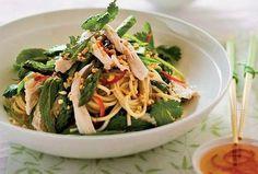 Orientální kuřecí salát Cabbage, Spaghetti, Vegetables, Ethnic Recipes, Food, Essen, Cabbages, Vegetable Recipes, Meals