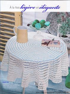 Round crochet tablecloth pattern. More Great Patterns Like This