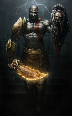 Unreality - The Very Best Kratos and God of War Fan Art Kratos God Of War, Gods Of War, Digital Art Illustration, Jeux Nintendo 3ds, God Of War Series, Gaming Wallpapers, Video Game Characters, Video Game Art, Greek Gods