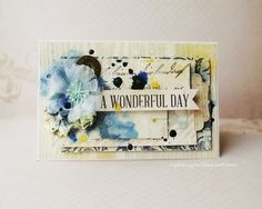Beautiful card by Kasia Krzyminska for Prima! #cards #papercrafting.