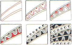 Deco Border Zentangle pattern