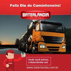 """Trafegam pelas estradas brasileiras cerca de dois milhões de caminhoneiros. Eles transportam 60% da carga movimentada no país. Talvez por isso gostem de dizer: """"O caminhoneiro toca o Brasil pra frente"""". Parabéns aos caminhoneiros deste Brasil!! #Baterlândia"""