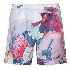 Surf Shorts, Jogger Shorts, Men's Shorts, Print Shorts, Tiger Painting, Watercolor Images, Apron Dress, Papua New Guinea, Summer Shorts