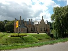 Kasteel Radboud in Medemblik, Along the east bank of the Medemblik harbour in North Holland lies Kasteel Radboud. Built in the 1200s, the castle was one of many commissioned by Floris V. While the exact building date of the castle remains a mystery, we do know that the castle was already completed during the St. Lucia's Flood in December of 1287.