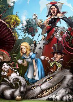 Art Work of Alice in Wonderland  <3 <3