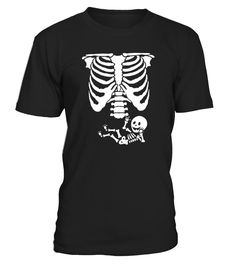 Baby Skeleton Ribs Halloween Maternity Pregnant T-shirts are great Halloween costume ideas for pregnant women. If you are an expecting mother and want a simple Halloween costume idea, this skeleton costume tee is for you.   Baby Skeleton Ribs Halloween Maternity Pregnant T-shirts are fitted. For a more relaxed fit, order a size up. These Halloween maternity tees make a great gift idea for Halloween or Christmas gift idea for expecting mothers.