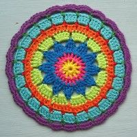 Crochet Mandala Wheel made by Danielle, Netherlands, for yarndale.co.uk