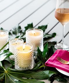 Scented Candles set of 3, 6.5oz, 4oz, 2oz Rosemary And Lavender Sprinkled All Natural Soy Candles Home Decor