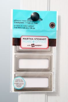 Labeling 101: Label Holders | How Jen Jones at IHeart Organizing Uses the Martha Stewart Bookplates from Staples