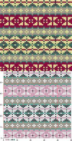Bilderesultat for mamamatveyki Punto Fair Isle, Tejido Fair Isle, Motif Fair Isle, Fair Isle Chart, Fair Isle Pattern, Fair Isle Knitting Patterns, Knitting Stiches, Knitting Charts, Knitting Socks
