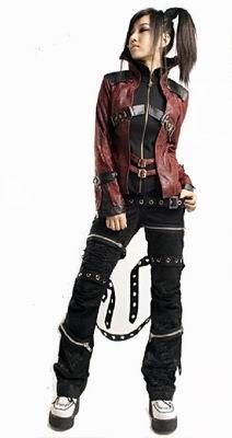 Punk Rave Red Gothic Jacket