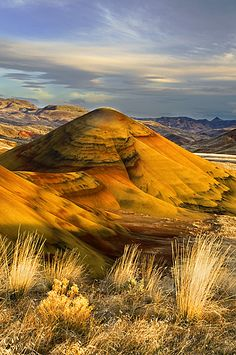 Painted Hills, John Day Fossil Beds National Monument, Oregon; Photo by Rick Lundh