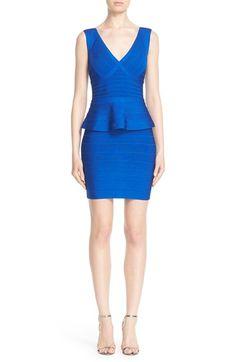HERVE LEGER 'Rebeca' Peplum Bandage Dress. #herveleger #cloth #