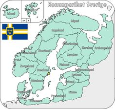 Map of the Swedish Empire by on DeviantArt - German Kingdoms 1868 - European Map, European History, World History, Old World Maps, Old Maps, Europe Day, County Flags, Geography Map, Viking Culture