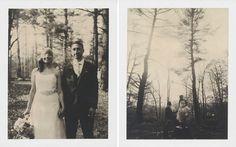 Cute old timey looking photos - Rainy Summer Camp Wedding