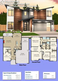 Modern House Plans : Architectural Designs Modern House Plan 85209MS Gives  You 4 Beds And Over 2,600 .