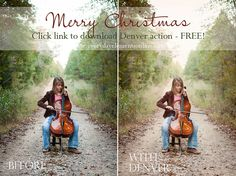 Free action for Photoshop and Photoshop Elements. Christmas Present from Amanda. http://everydayelementsonline.com/2012/12/christmas-present-free-denver-action/