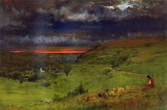 Sunset at Etretat, 1875 George Inness