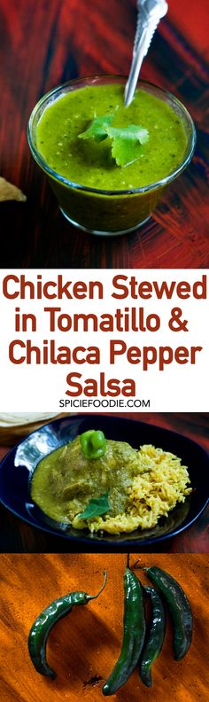 What Are #Chilaca Chilies and #Chicken Stewed in Chilaca Pepper #Salsa | #Mexicanfood #dinnerrecipes