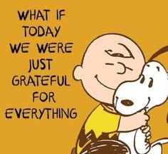 Think every single day what you're grateful for and record it on paper! Charlie Brown and snoopy quote. Life Quotes Love, Me Quotes, Motivational Quotes, Funny Quotes, Inspirational Quotes, Crush Quotes, Happy Quotes, Peanuts Quotes, Snoopy Quotes