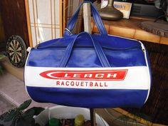 DC Leach Racketball/gym bag by MilliesAttique on Etsy