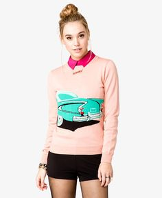 Forever 21 Retro Car sweater!  I LOVE this design... the material is really soft - I have a few like it!