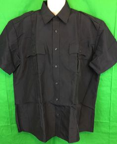 Law Pro by Quartermaster men's black short sleeve Police/Security shirt in size 2XL regular 18-181/2. Shirt is new, features shoulder epaulets, reinforced badge attachment and pleated front and back. 100% polyester, machine washable, star shield finish. This shirt is ready for action! | eBay!
