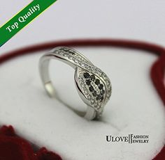 New 14 Elegant Silver 925 Rings for Women Crystal CZ Zircon Simulated Diamond Women Jewelry Ulove Y004 Lover Day…
