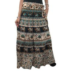 Mogulinterior Casual Wrap skirt Animal Printed Cotton Sarong Beach Wrap Around Skirt Dress